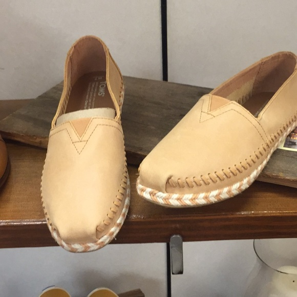 00aa744ee6 Toms Shoes | Classic Honey Leather Rope Sole Brand New | Poshmark